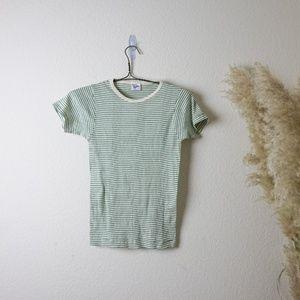 vintage Robert P Miller green striped t-shirt